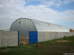 Ангары бескаркасные заводского изготовления - фото 3