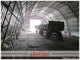 Ангары арочные, шатровые, прямостенные от производителя - фото 7
