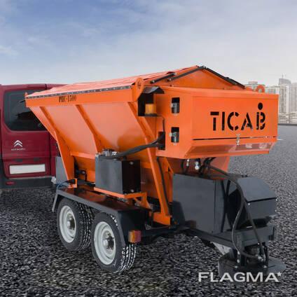 Пескоразбрасыватель прицепной РПС-1500 TICAB комунальный